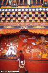 Wall painting at Paro dzong