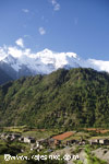 Lower Pisang village & Annapurna II