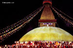 People gathered for peace at Bouddha Stupa